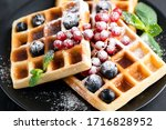 Square Belgian Waffles With...