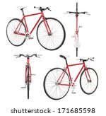 city bicycle fixed gear from... | Shutterstock . vector #171685598