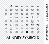 washing symbols for clothes.... | Shutterstock .eps vector #1716858265