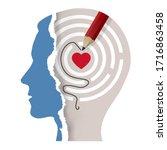 love your self  male head ...   Shutterstock .eps vector #1716863458