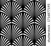 art deco pattern. vector black... | Shutterstock .eps vector #1716877195