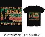 bernse mountain dog hiking team ...   Shutterstock .eps vector #1716888892