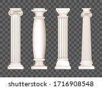 ancient roman columns  marble... | Shutterstock .eps vector #1716908548
