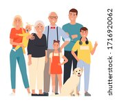 happy family. father  mother ... | Shutterstock .eps vector #1716920062