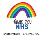 thank you nhs rainbow vector ... | Shutterstock .eps vector #1716962722