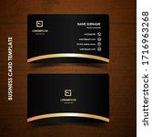 modern business card design...   Shutterstock .eps vector #1716963268