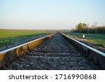 Empty Railroad Track Going Into ...