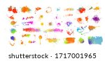 set of multi colored spots of... | Shutterstock .eps vector #1717001965