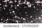 nice sakura blossom isolated... | Shutterstock .eps vector #1717012315