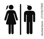girls and boys restroom sign.... | Shutterstock .eps vector #1717017505