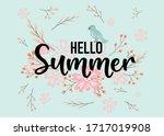 hello summer hand sketched... | Shutterstock .eps vector #1717019908