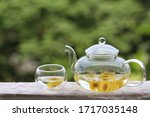 Chrysanthemum Tea In Glass...