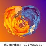 colorful vector illustration ... | Shutterstock .eps vector #1717063372