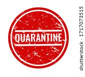 quarantine text with isolated... | Shutterstock . vector #1717073515
