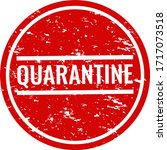 quarantine text with isolated... | Shutterstock .eps vector #1717073518