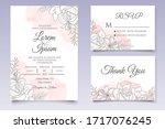 beautiful floral wedding... | Shutterstock .eps vector #1717076245