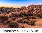 Sunset on the Jumbo Rocks, Joshua Tree National Park, California