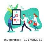 emergency health call concept....   Shutterstock .eps vector #1717082782