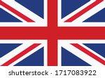 united kingdom flag vector... | Shutterstock .eps vector #1717083922