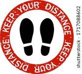 social distancing keep distance ...   Shutterstock .eps vector #1717088602