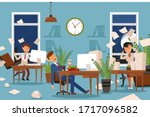 sleep problems for office...   Shutterstock .eps vector #1717096582