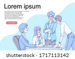 professional business teamwork... | Shutterstock .eps vector #1717113142