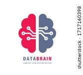 data brain   vector logo...   Shutterstock .eps vector #1717160398