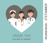 thank you doctor and nurse....   Shutterstock .eps vector #1717168825