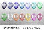 set of festive balloons in a...   Shutterstock .eps vector #1717177522