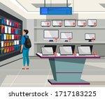 vector flat illustration of... | Shutterstock .eps vector #1717183225