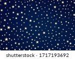Blue Stars Background  White...