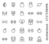 big set of wellness line icons. ... | Shutterstock .eps vector #1717198498