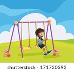 illustration of a young boy... | Shutterstock . vector #171720392