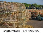 Lobster And Crab Pots On The...