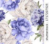 seamless floral pattern with... | Shutterstock . vector #1717207525