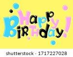 Happy Birthday Cartoon Vector...