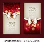 valentines day two cards with... | Shutterstock .eps vector #171722846