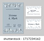 vector wedding floral... | Shutterstock .eps vector #1717234162