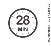 twenty eight minutes icon.... | Shutterstock .eps vector #1717235602
