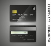 realistic detailed credit cards ... | Shutterstock .eps vector #1717235665