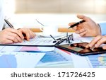 business accounting  | Shutterstock . vector #171726425