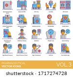 pharmaceutical icons including... | Shutterstock .eps vector #1717274728