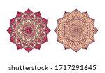 set of circular ornaments.... | Shutterstock .eps vector #1717291645
