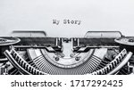 My Story Typed Words On A...