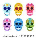 el dia de muertos  mexican day...   Shutterstock .eps vector #1717292992