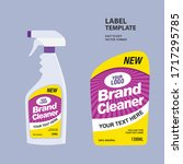 cleaner label design template ... | Shutterstock .eps vector #1717295785