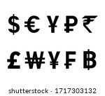currency icon set design...