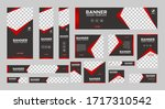 set of creative web banners of... | Shutterstock .eps vector #1717310542