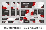 set of creative web banners of... | Shutterstock .eps vector #1717310548