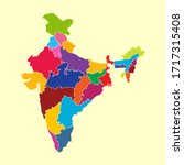 colorful india map vector... | Shutterstock .eps vector #1717315408